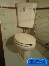 TOTO製の墨付きタイプの洋式トイレの交換工事