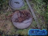 札幌市清田区での外の排水管詰りを修理