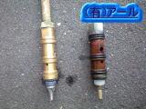 水抜き栓の埋設部分からの水漏れ
