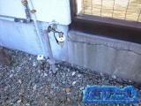 札幌市手稲区で、屋外の水道管の水漏れ修理