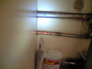水道管凍結銅管の修理箇所
