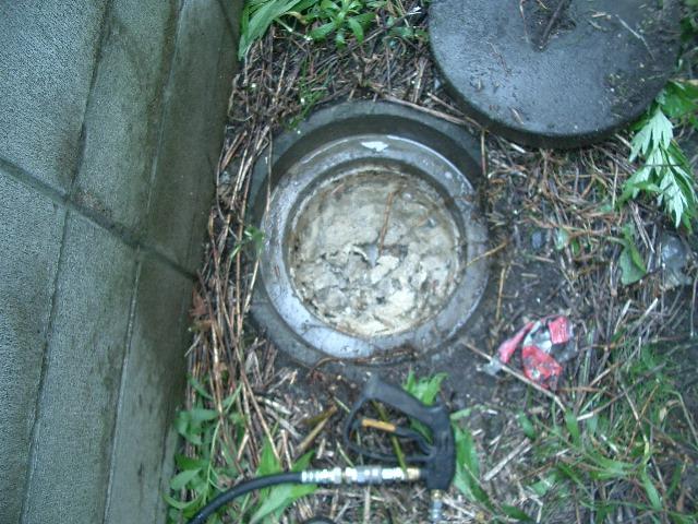 札幌市手稲区 高圧洗浄による排水管つまり除去