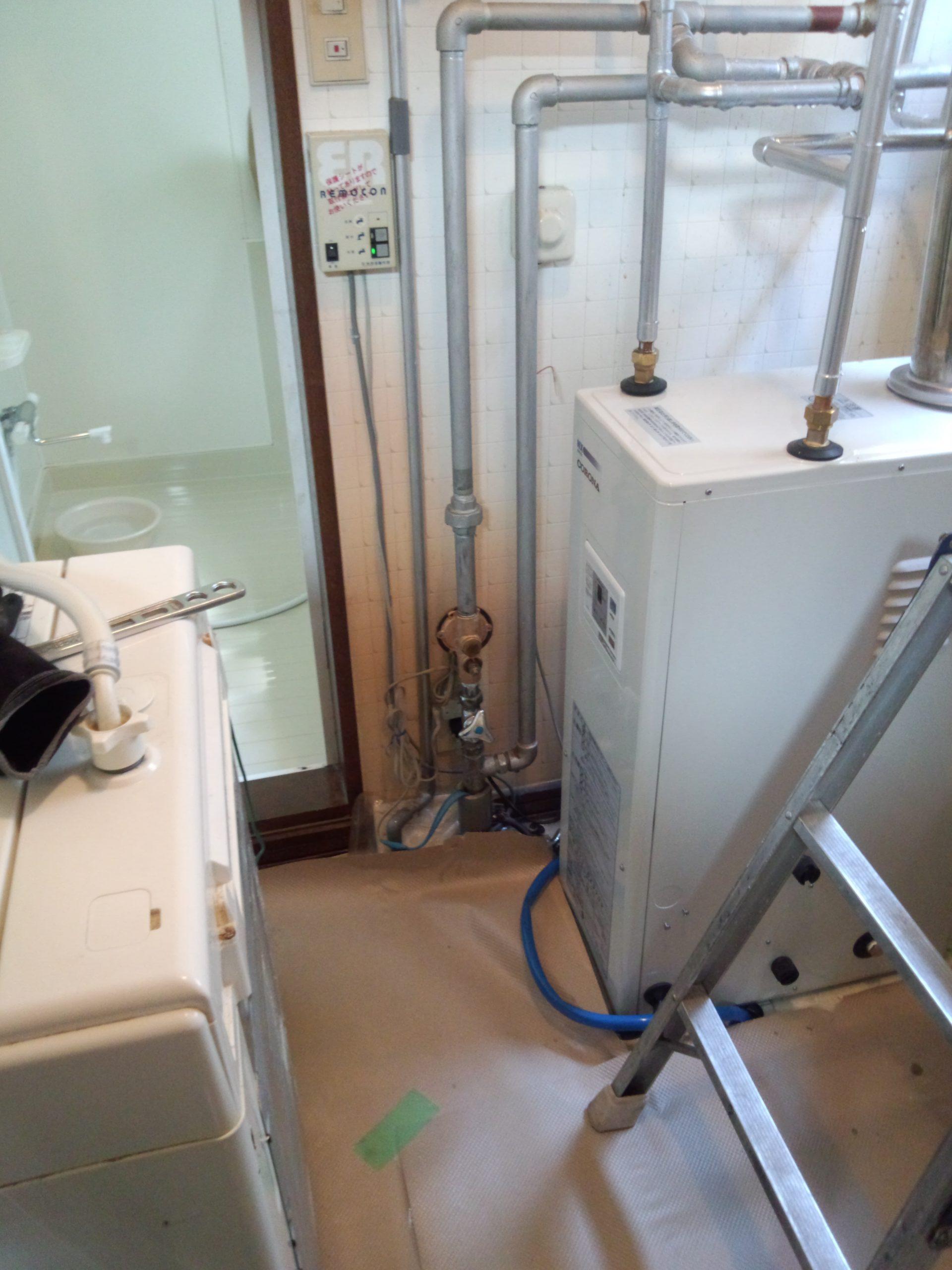 コロナ石油給湯器交換、コロナボイラー交換、コロナ給湯器水漏れ