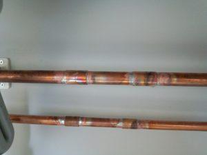 銅管破裂 給水管交換工事