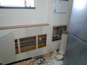 札幌市北区での水道管凍結破裂修理