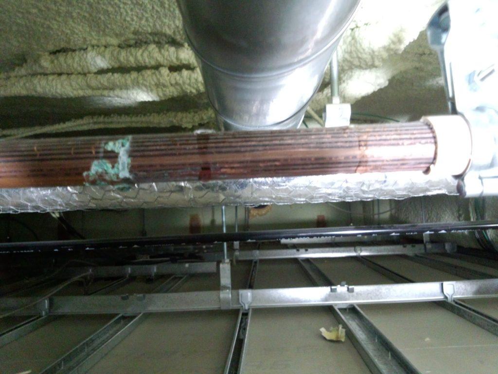 札幌市中央区 給湯銅管配管ピンホール水漏れ修理