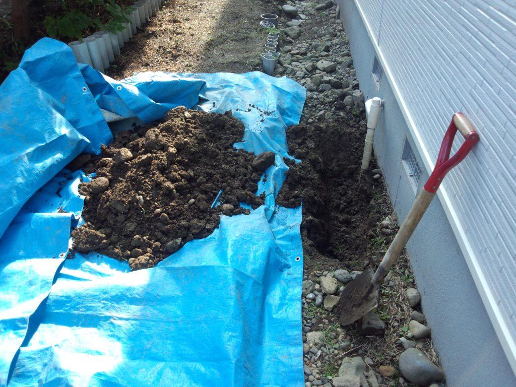 札幌市東区排水管工事、屋外排水管水漏れ修理