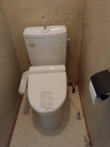 札幌市手稲区での、TOTOトイレ交換、水抜き栓交換
