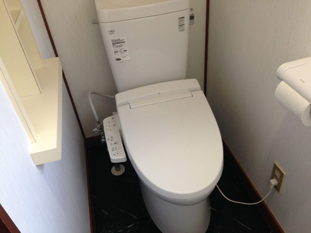 札幌市北区 INAXトイレ水漏れ リクシルトイレセット交換