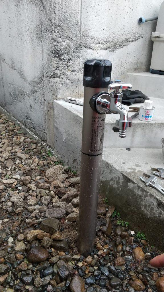 札幌市西区での散水栓交換工事 水抜き付水栓柱とりつけ動画です。