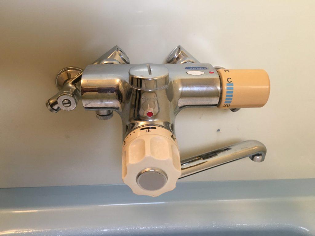 札幌市北区定量止水付サーモスタットバス水栓水漏れ修理 TOTO定量止水付サーモスタットバス水栓修理