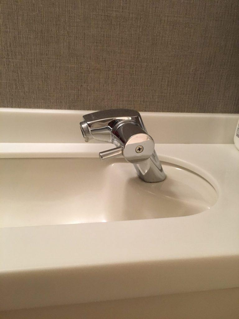 札幌市北区 マンショントイレ手洗い水漏れ修理