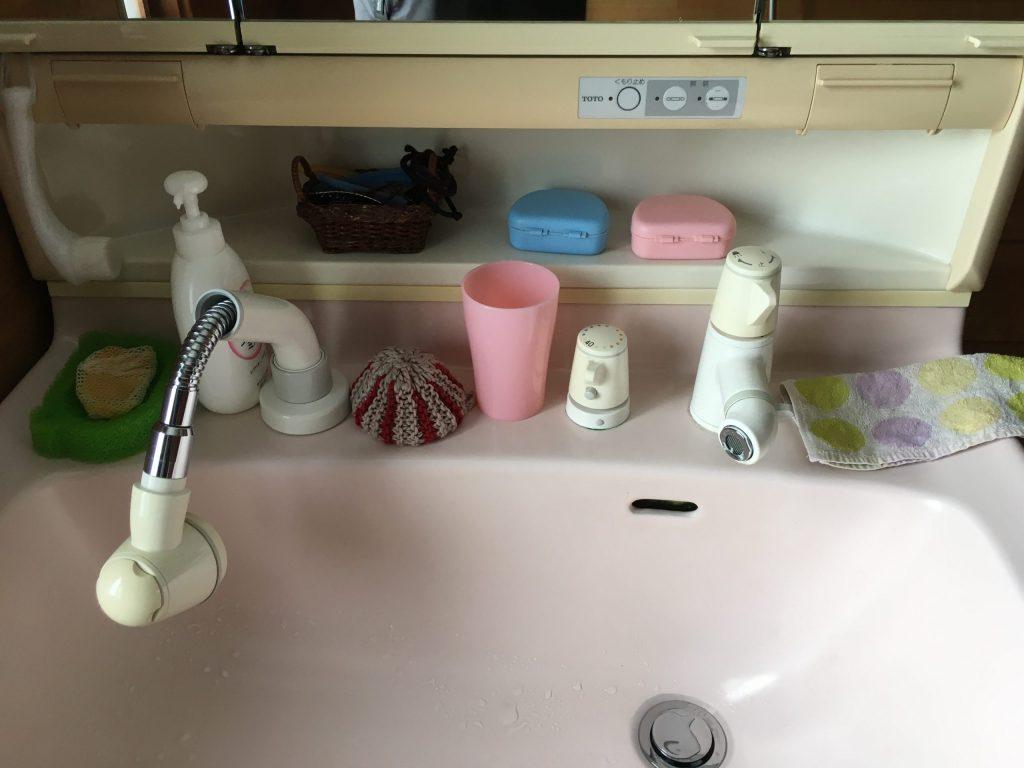 札幌市北区TOTO洗面所シャワー水栓交換