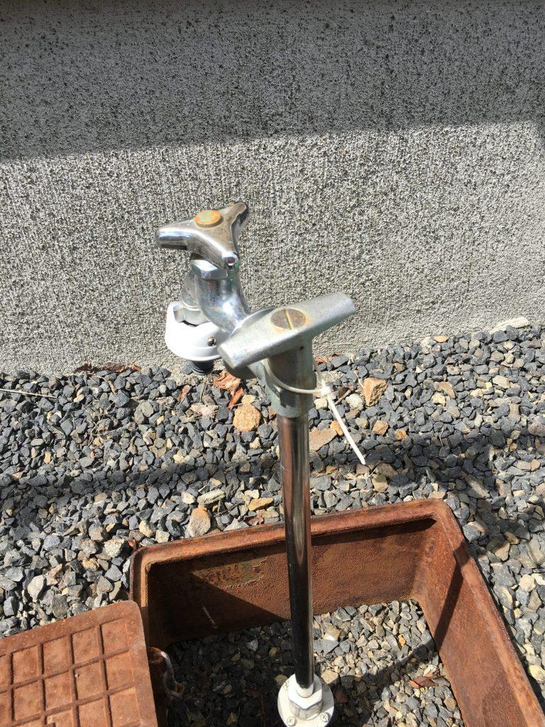 札幌市北区、散水栓の水漏れ修理です。