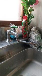 台所蛇口水漏れ工事