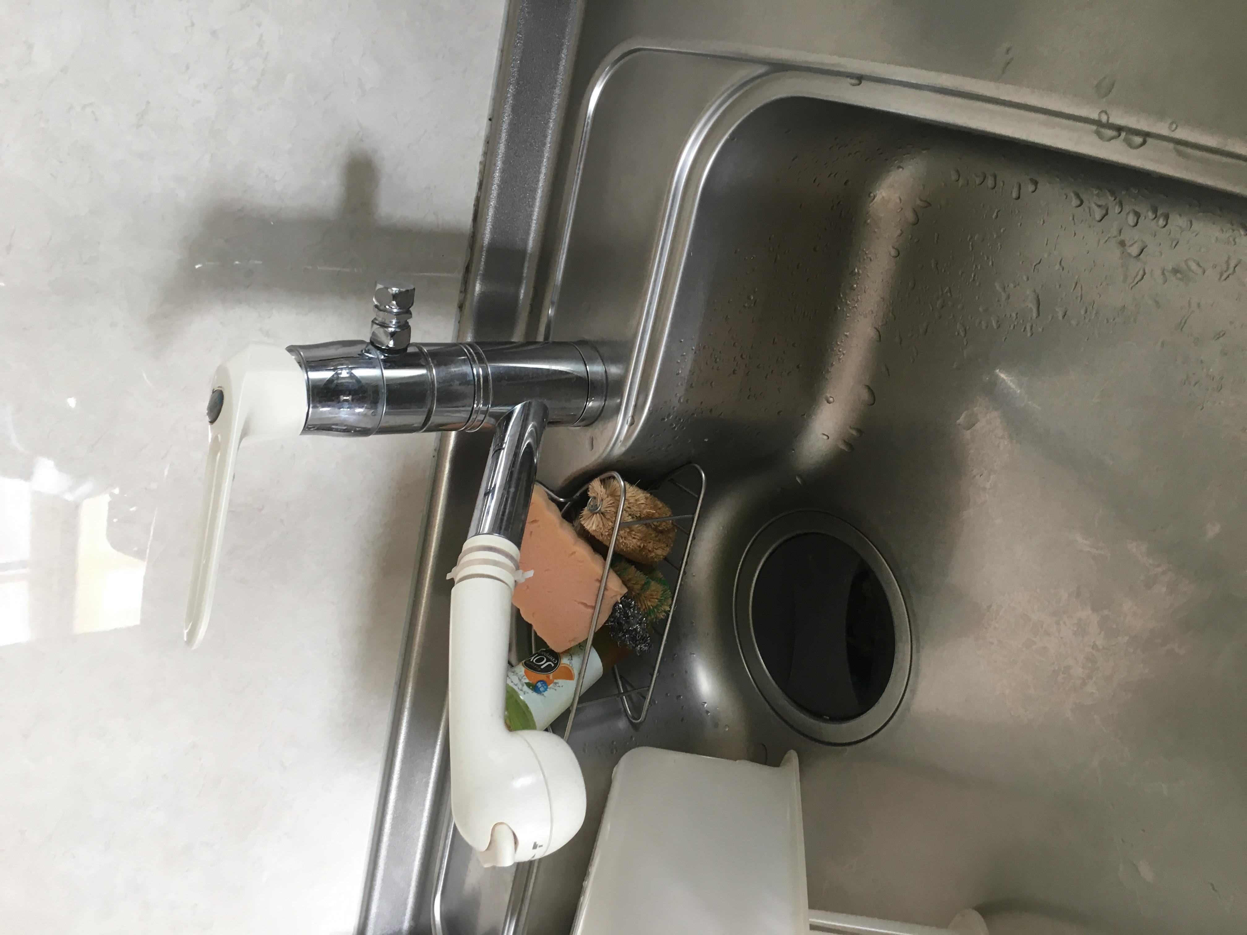 札幌市東区KVK水漏れ修理 KVK分岐付シャワー水栓交換工事