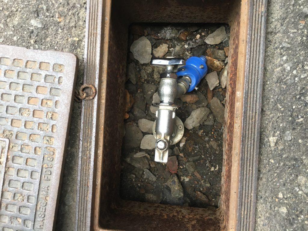 札幌市北区散水栓修理 光合金伸縮式水抜き栓水漏れ修理