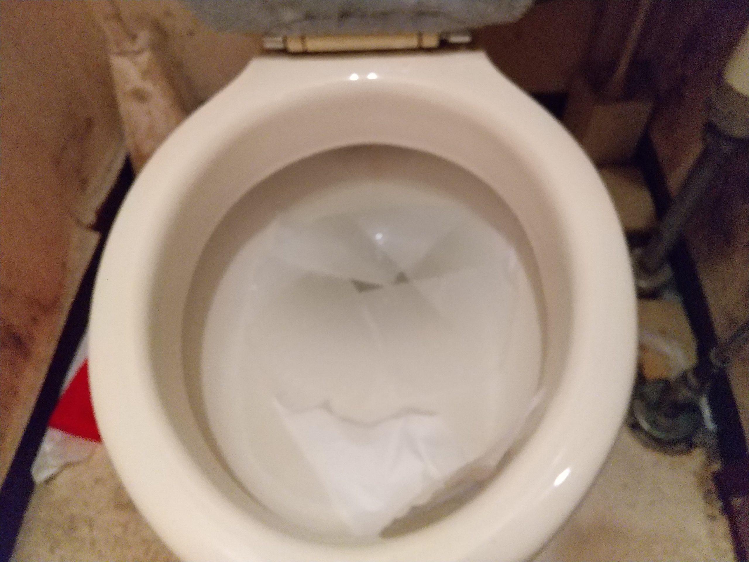 トイレが詰まって水が流れない