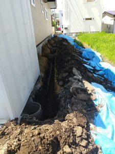 屋外排水管、排水マス掘削交換工事