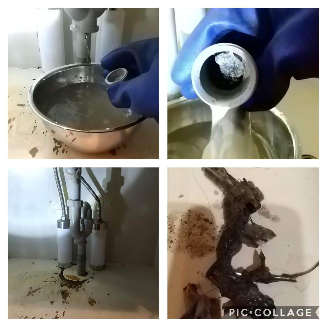 洗面排水つまり除去,