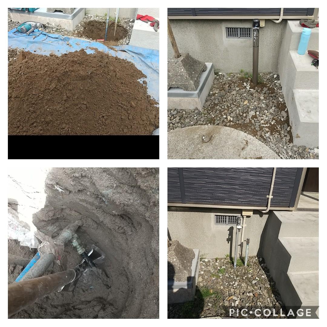 石狩市花川水抜き栓交換工事