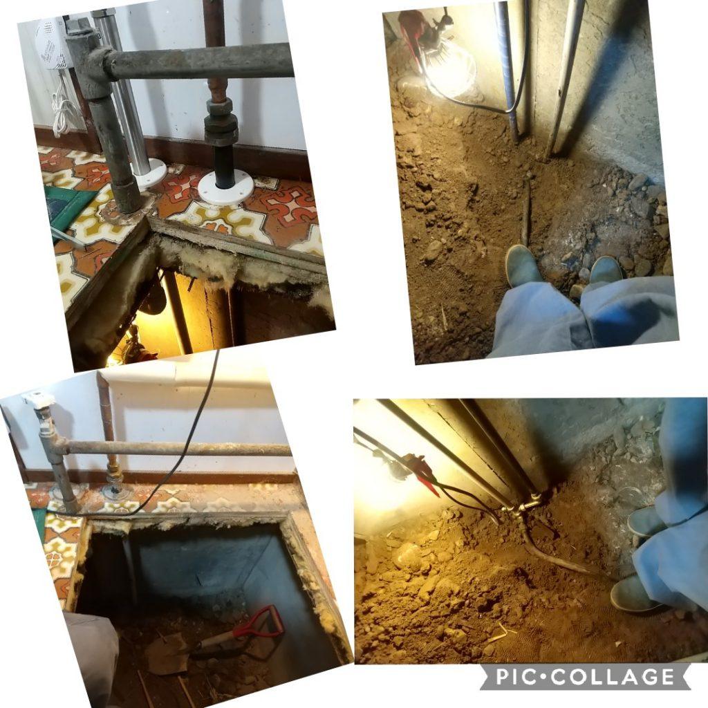 台所の床に水があふれてくる!キッチン水道管からの水漏れ修理