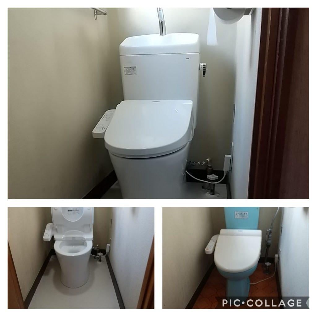 TOTOトイレ S731B C730 の交換です