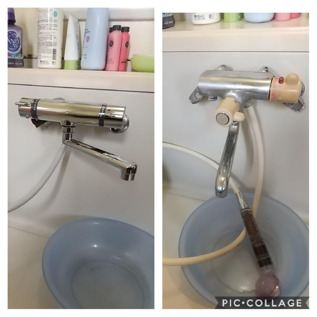 お風呂場シャワーの水が止まらない!toto tm245水漏れ修理の方法です