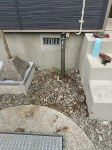 石狩市花川水抜き栓水漏れ修理工事